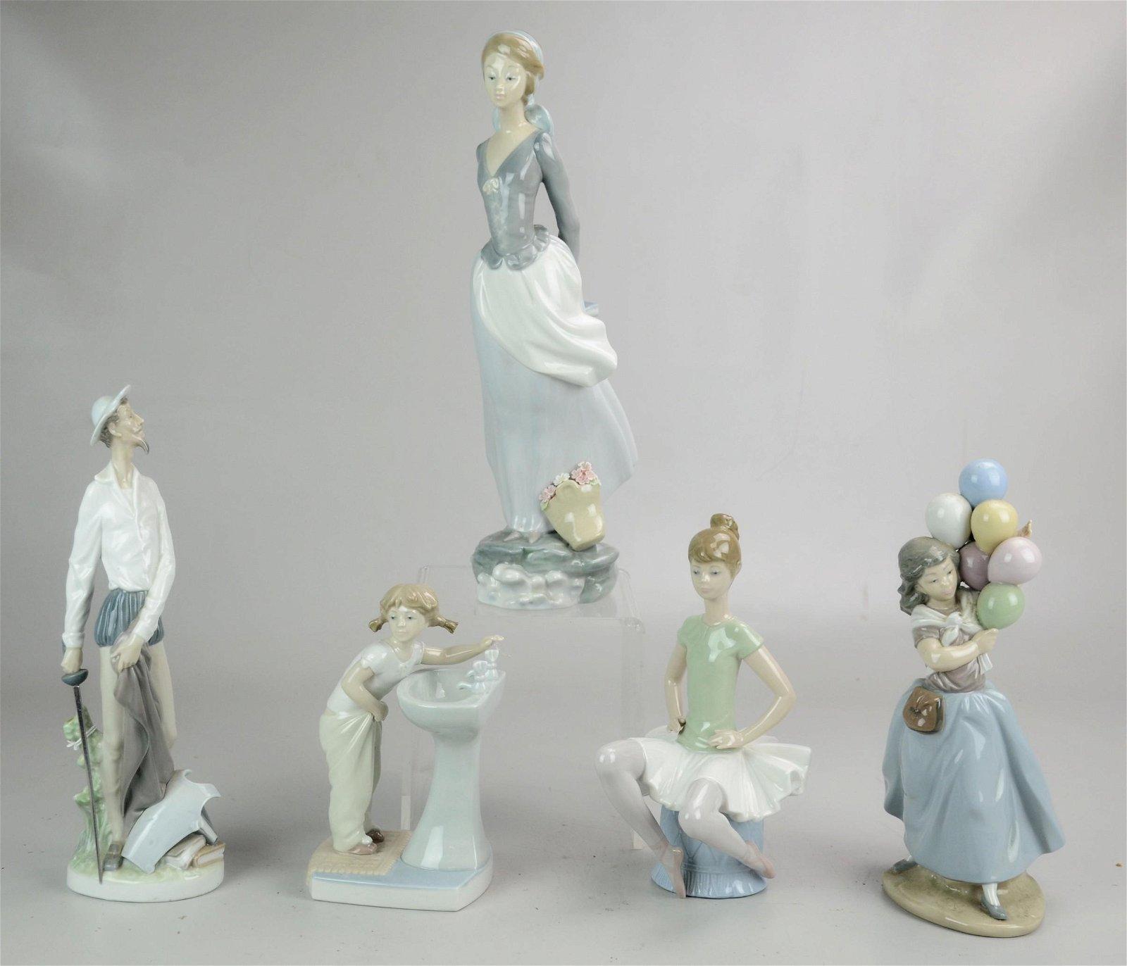 (5) Lladro Porcelain Figures