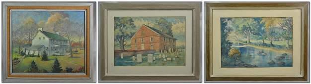 William A Roach Pennsylvania Impressionist Landscape