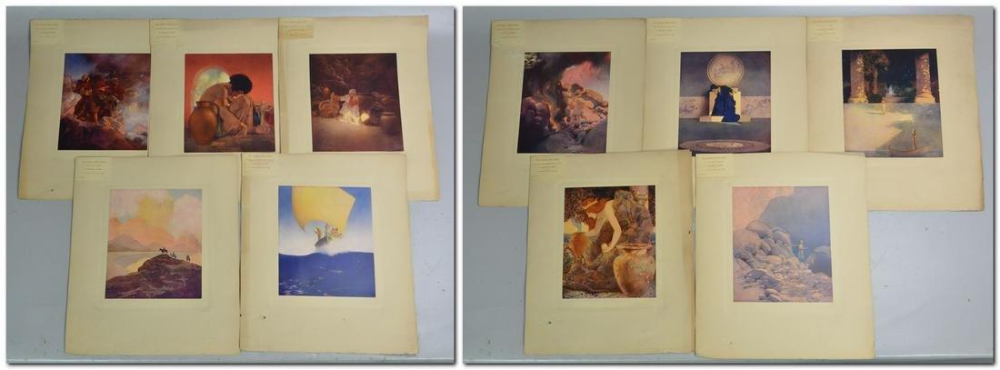 Maxfield Parrish (10) Arabian Nights Folio Prints