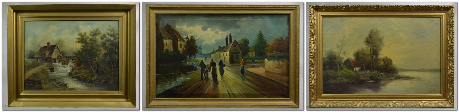 (3) Continental Landscape Paintings