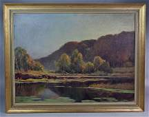 American Impressionist Landscape Painting