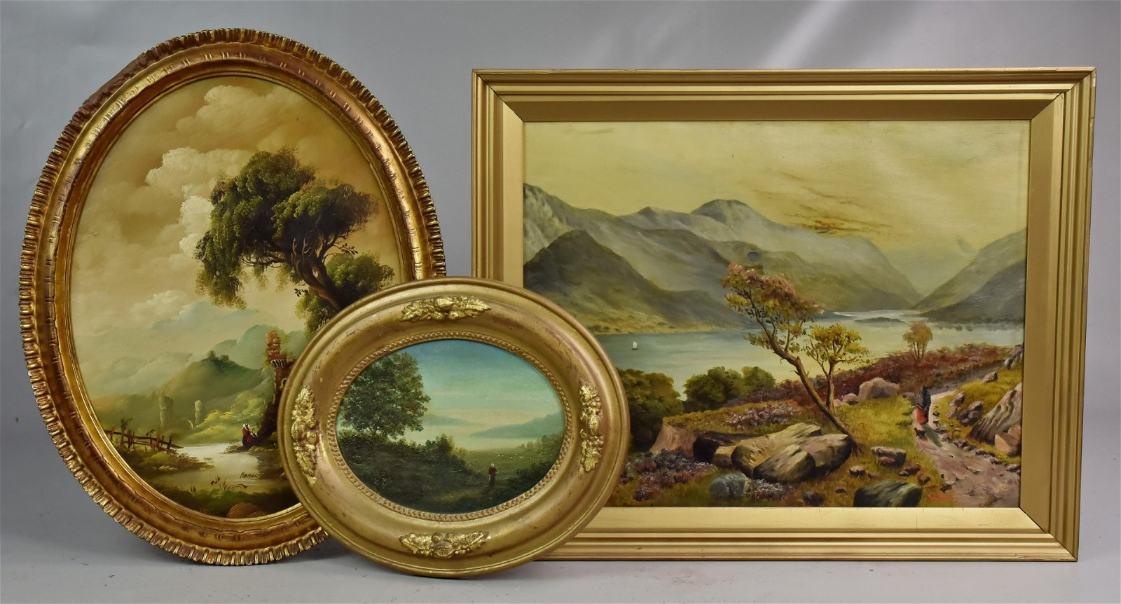 (3) Continental Landscape Paintings