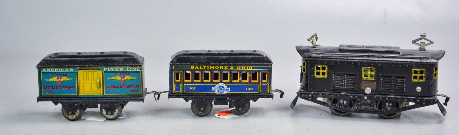 (3) American Flyer Train Cars