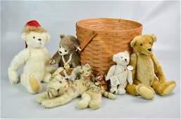 Stuffed Animal Group Including Steiff