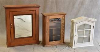 3 hanging wall medicine cabinets