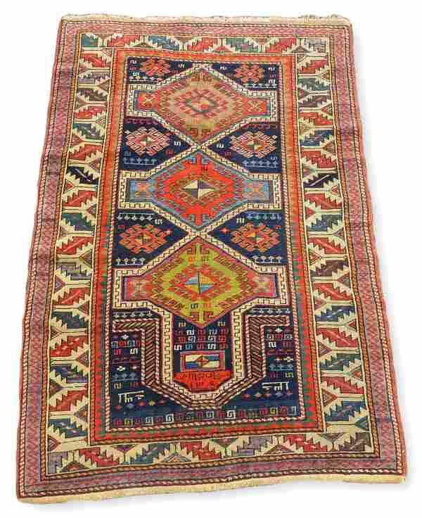 "2'11"" x 4' Caucasian Prayer Rug"