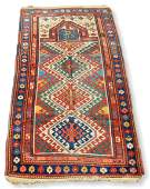 "2'8"" x 4'9"" Semi-Antique Caucasian Prayer Rug"