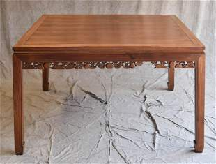 Chinese carved teak breakfast table