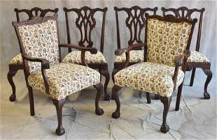 (6) Feldenkreis Chippendale style dining chairs