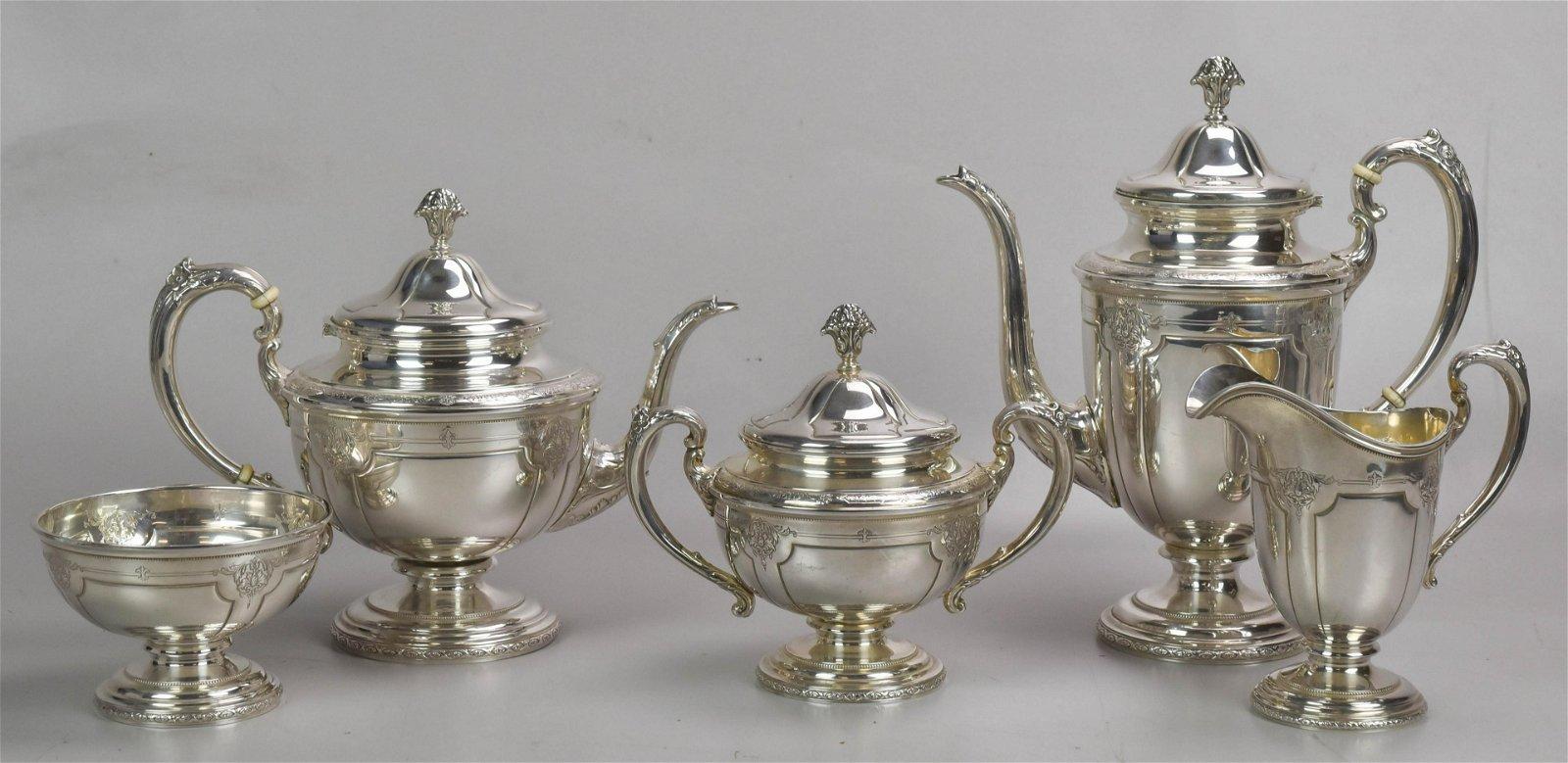 5-Pc Towle Sterling Silver Tea Set