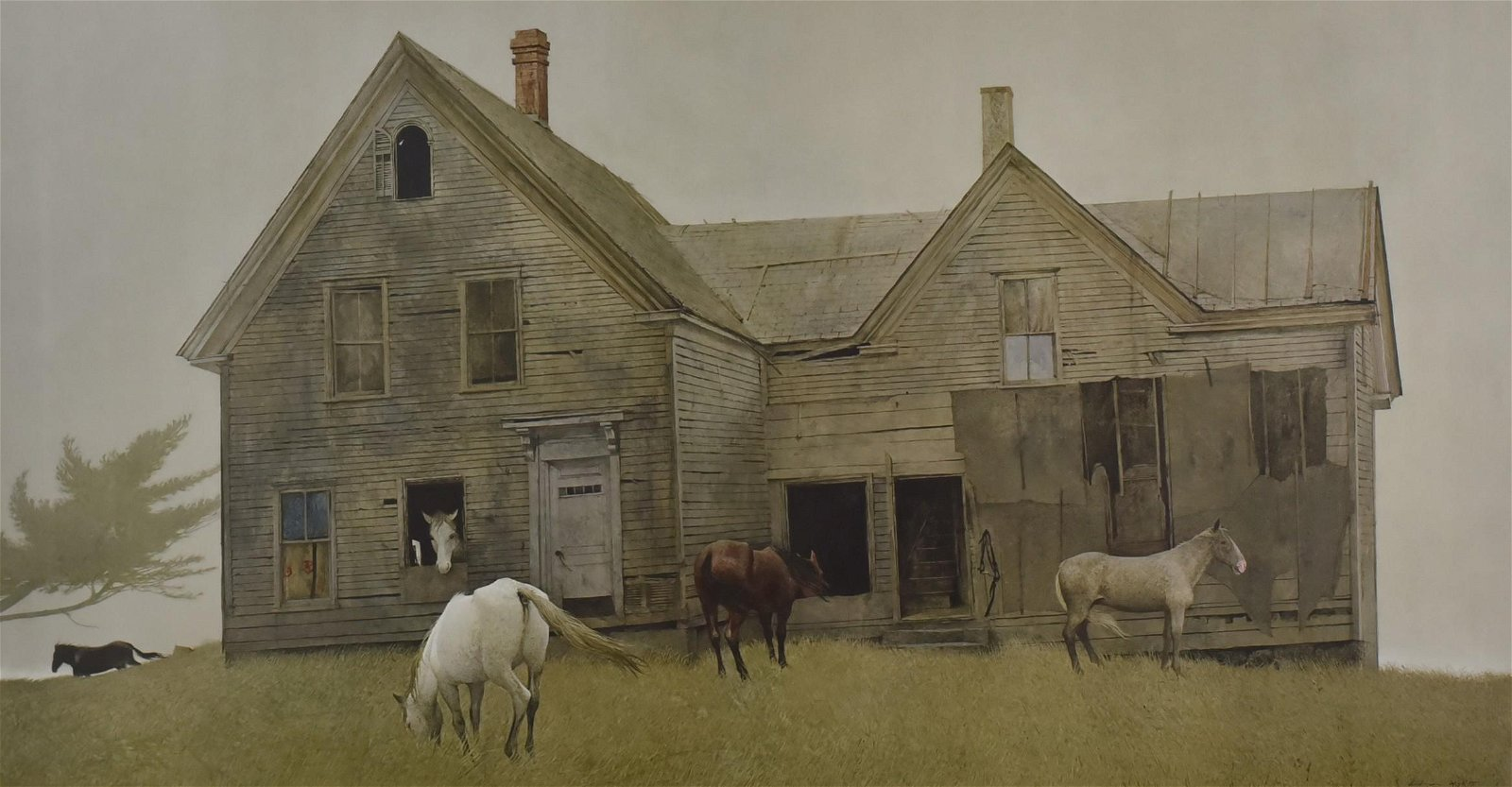 """Andrew Wyeth Signed Collotype """"Open House"""""""