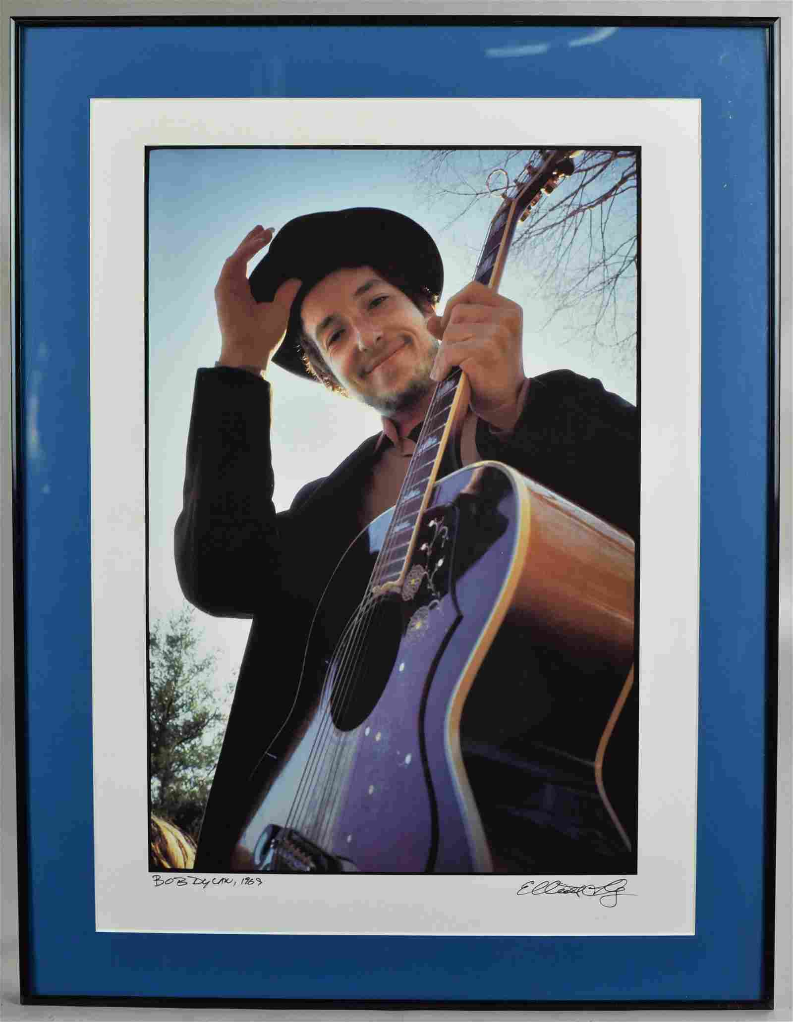 "Elliot Landy Signed Bob Dylan 1969 ""Nashville Skyline"""