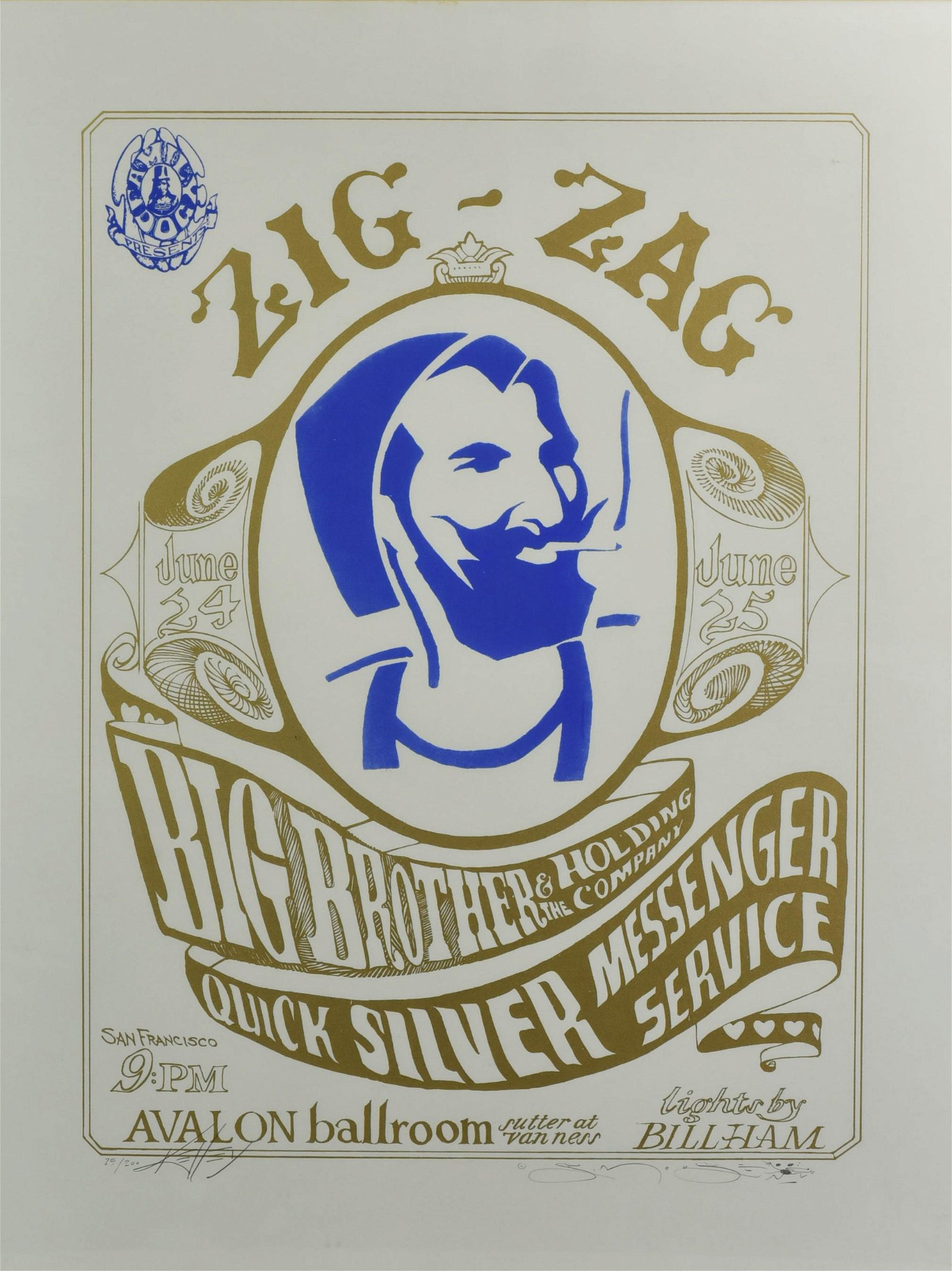 Zig Zag Lithograph Signed by Kelly and Mouse
