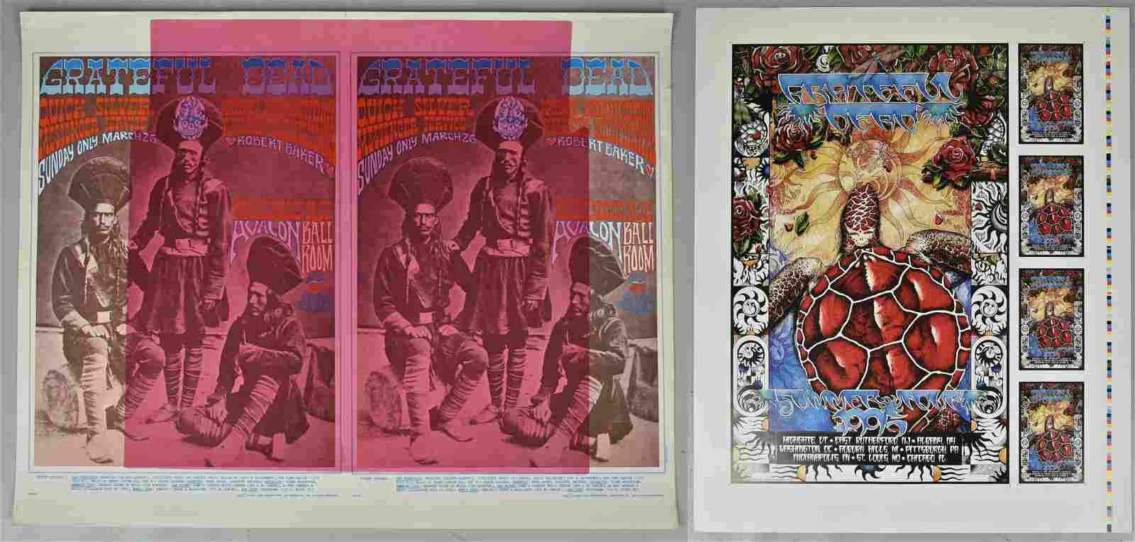 Grateful Dead Lot Including Summer Tour Poster