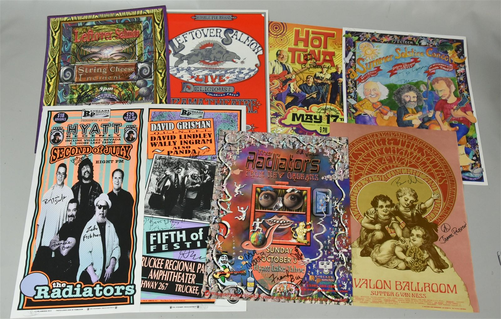 (8) Signed Concert Posters