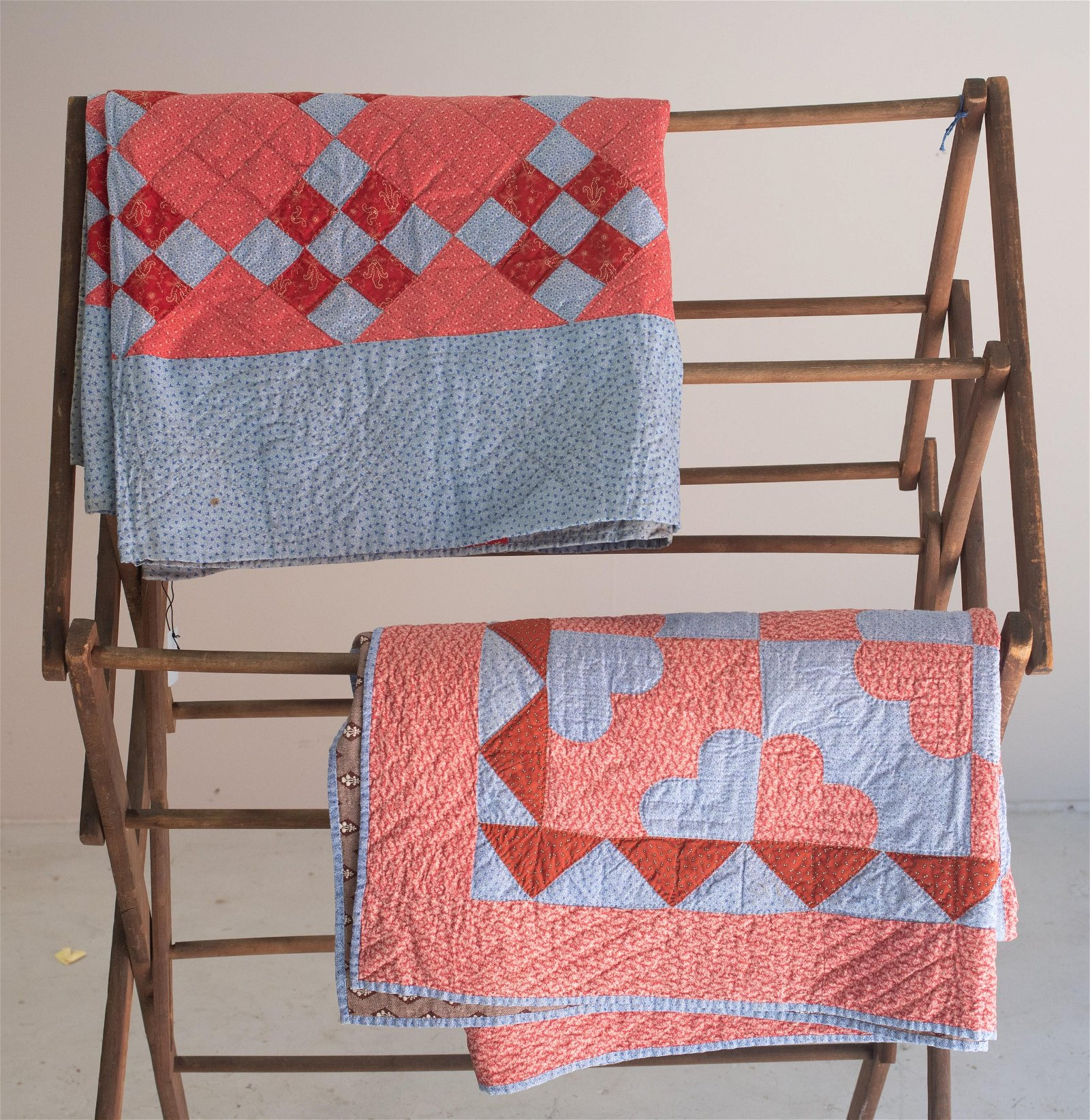 (2) Hand Pieced Cotton Quilts