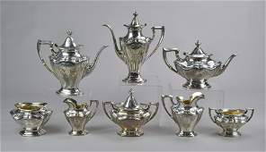 8 pc Reed and Barton Sterling Silver Tea Set