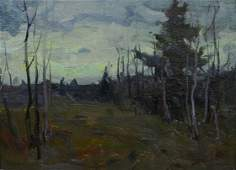 Russian Impressionist landscape painting
