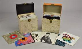 2 Vintage 45 Cases filled with 45 RPM records
