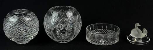 4 Pcs Contemporary Cut Glass