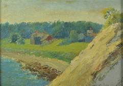 Frank Hendry Painting Folly Cove Cape Ann MA