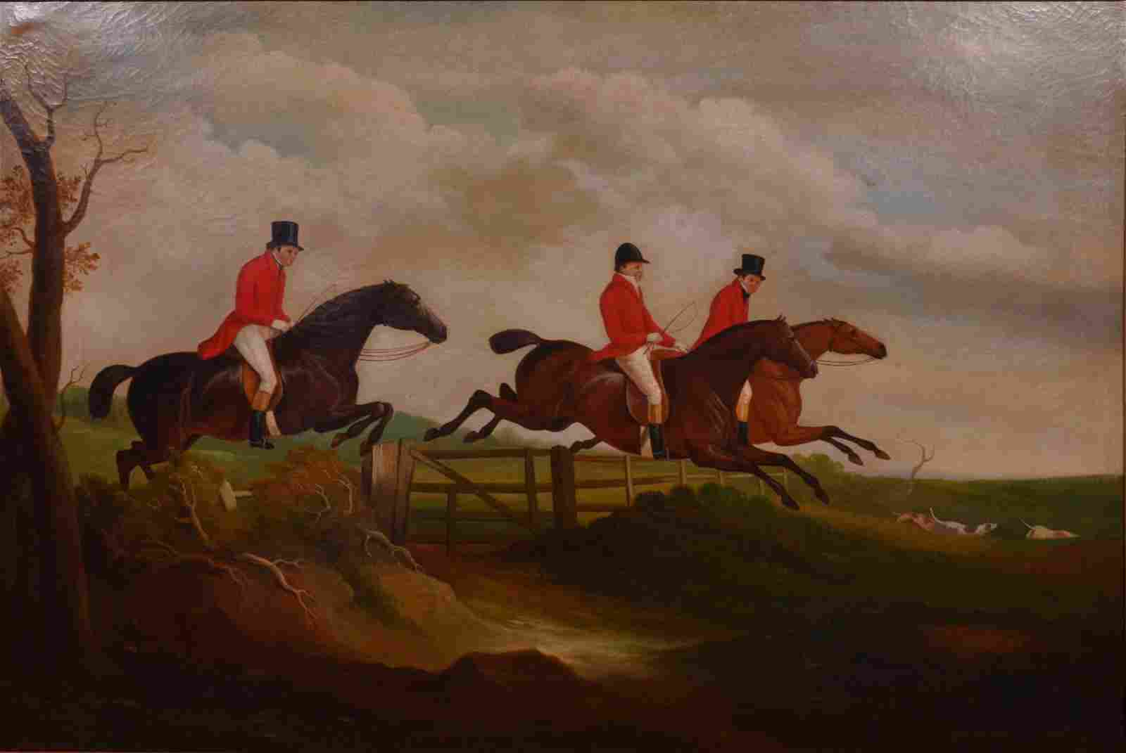 Reproduction Painting of an English Hunt Scene