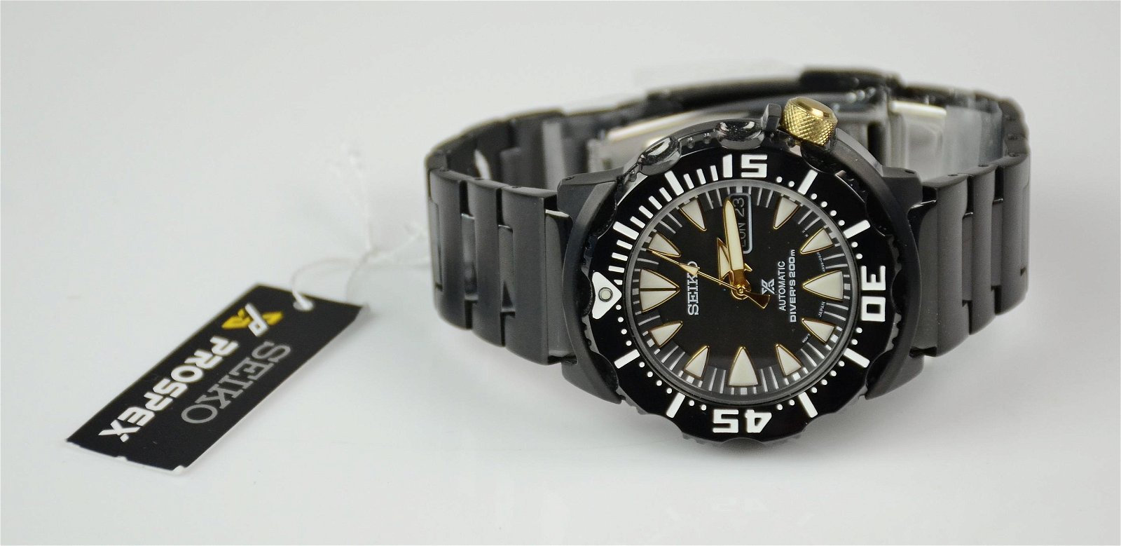 Men's Seiko Black Automatic Diver's 200m watch