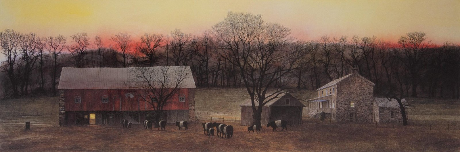 """Peter Sculthorpe Lithograph """"In from the Fields"""""""