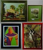 4 Framed Paintings  Prints