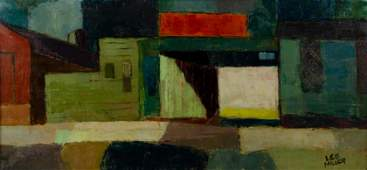 Lee Miller Abstract Cityscape Painting