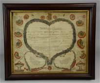 1806 Hanover, PA German Taufschein Fraktur by Wilhelm