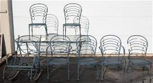 8 pc Woodard style patio set
