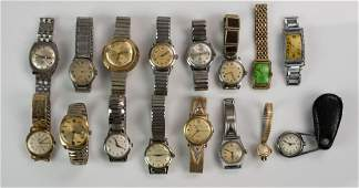 14 mens  1 ladies wrist watches
