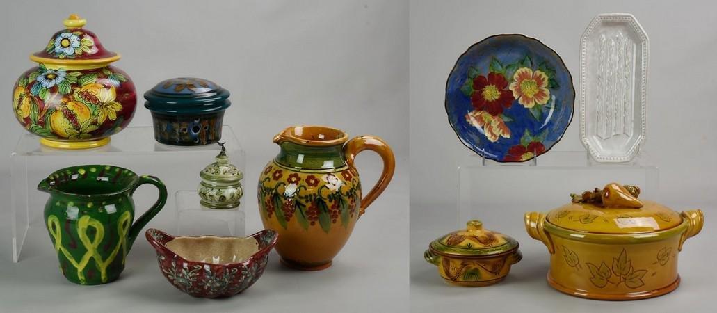 (10) Pcs Pottery