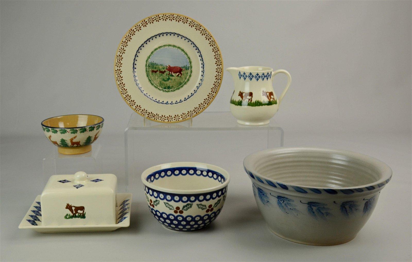 (6) Pcs Pottery