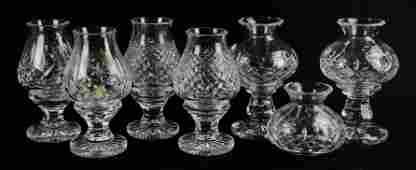 (3) Pr Waterford Crystal Hurricane Lamps