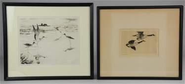 Frank Weston Benson (2) Etchings of Wild Birds