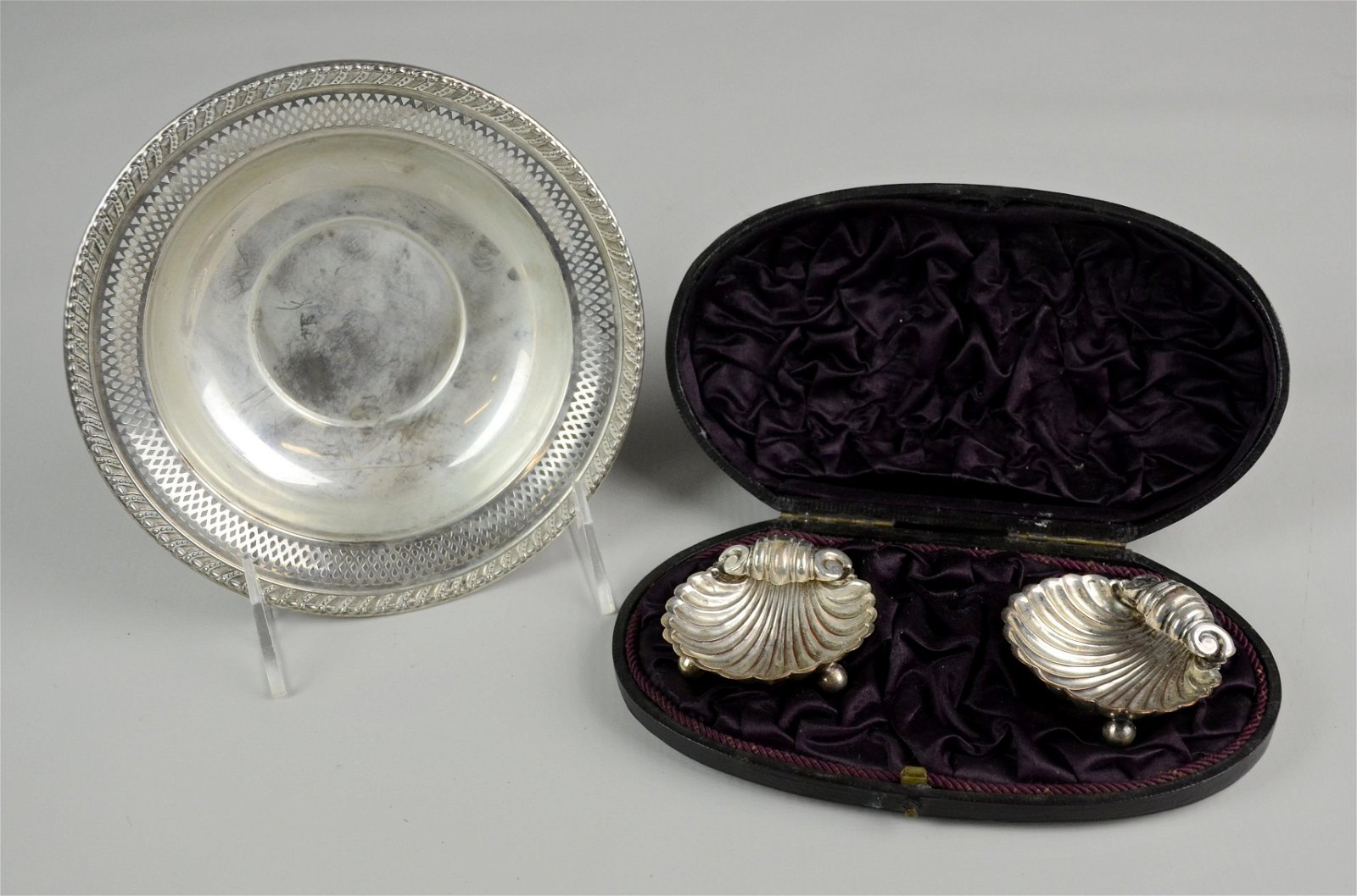 Sterling Bowl and Plated Salts