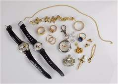 Mixed Jewelry Grouping 14K 10K Silver Costume