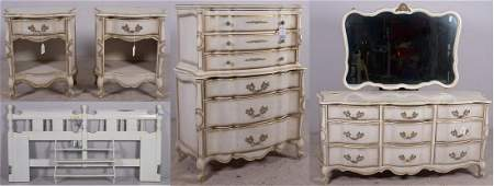 (7) pc French Provincial bedroom set