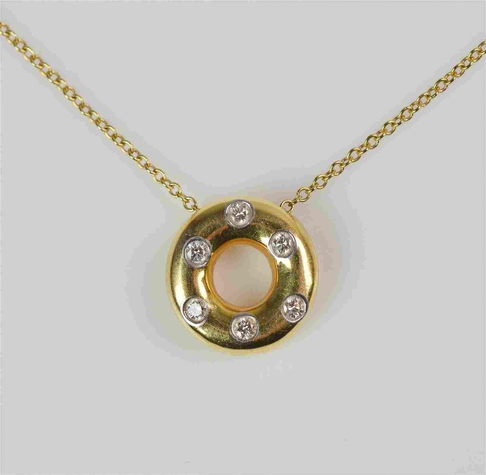 TIFFANY & CO. Diamond Necklace Etoile