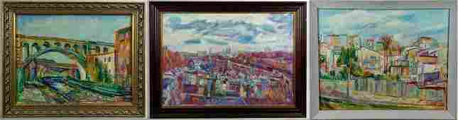 Charles Frith 3 Cityscape Paintings