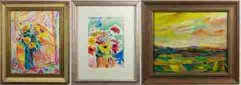 Charles Frith 3 Paintings Still LIfe  Landscape