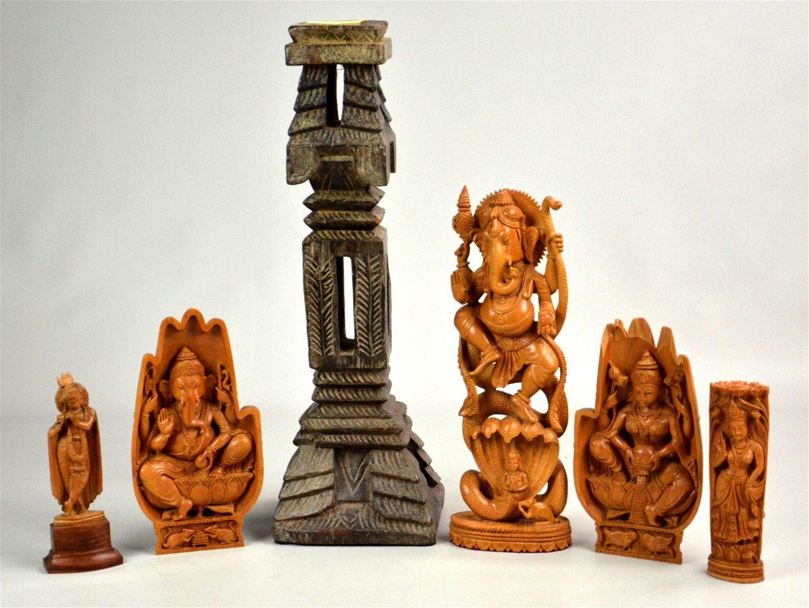 (6) India Wood Carvings