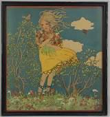 1919 Franz Cizek Vienna Secessionist Color Lithograph