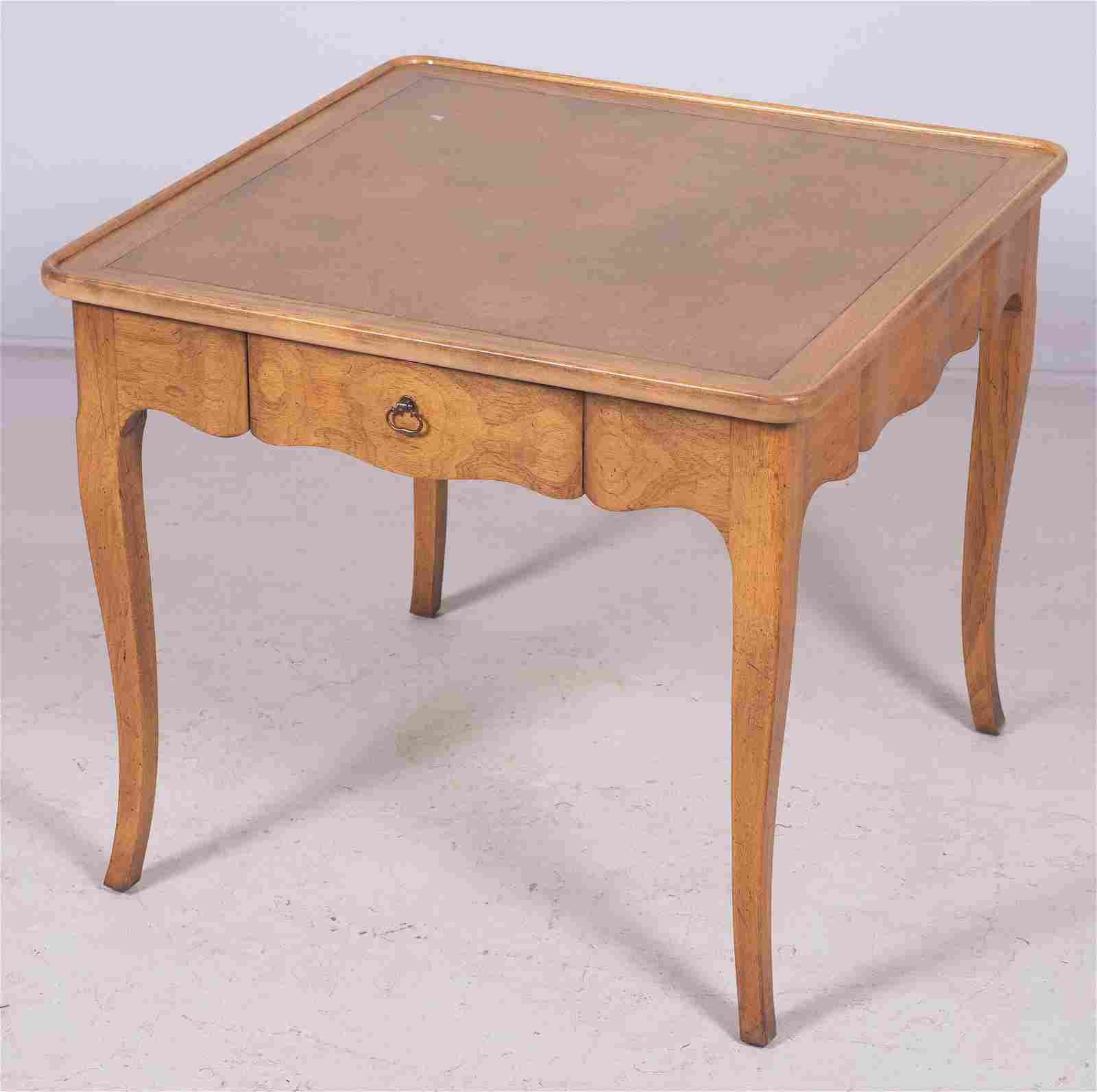 Baker French style walnut side table