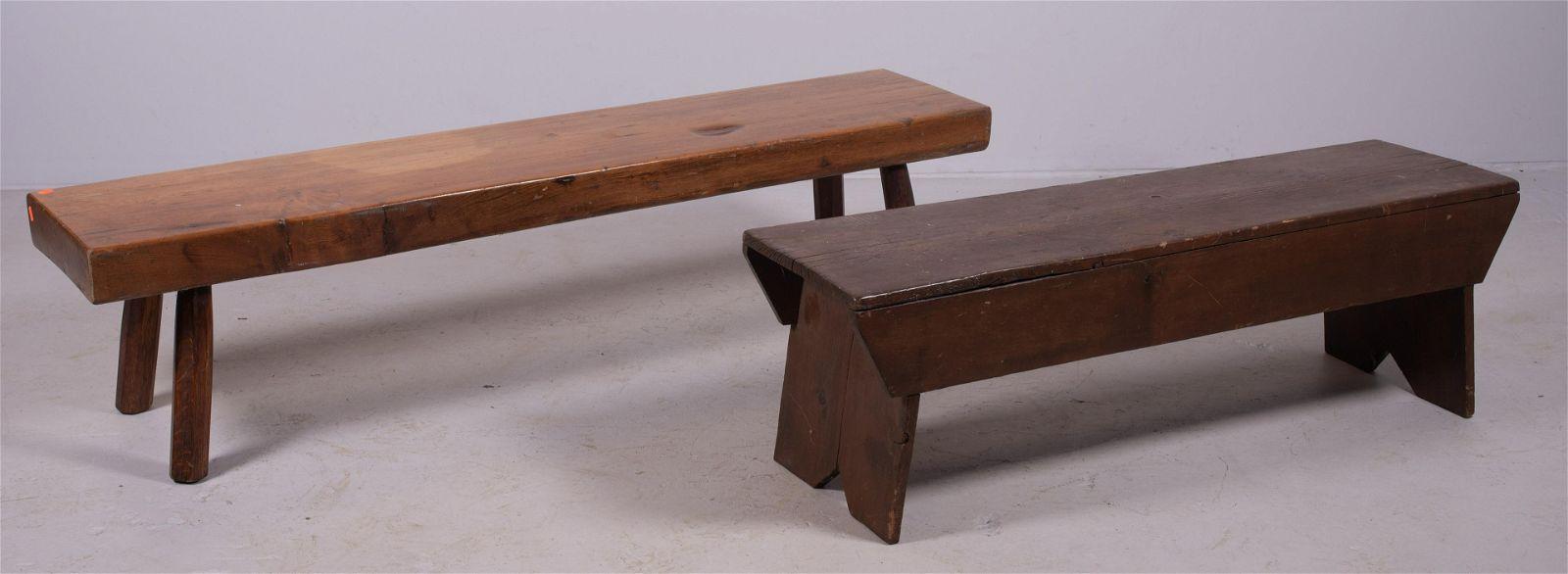 (2) Primitive benches