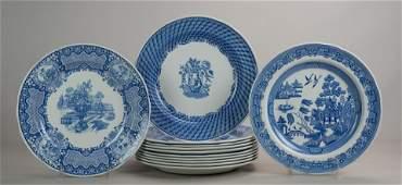 12 Spode Blue Room Plates