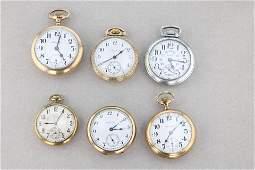 Vintage Pocket Watch Lot Elgin and Hamilton.