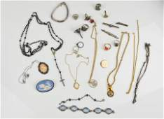 Vintage Silver and Costume Jewelry Art Deco